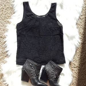 Tops - See-through Lace Tank